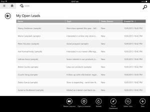 open-lead-grid-menu