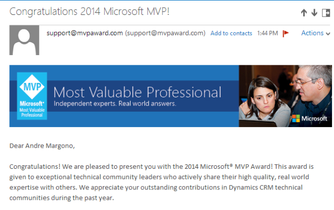 Awarded as Dynamics CRM MVP - The best April Fool Day Pranks ever!