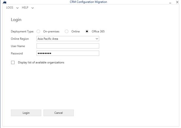 ConfigurationMigrationToolLogin
