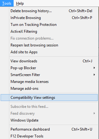 Compatibility View IE