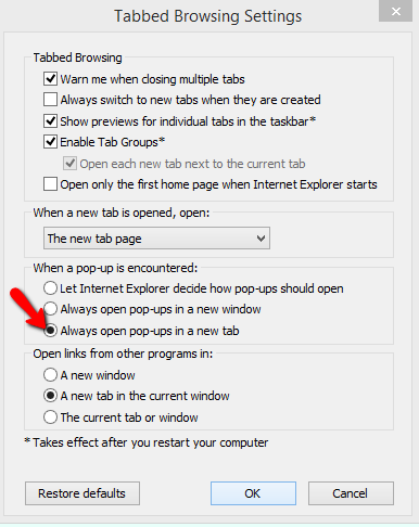 Open Pop-up in new Tab
