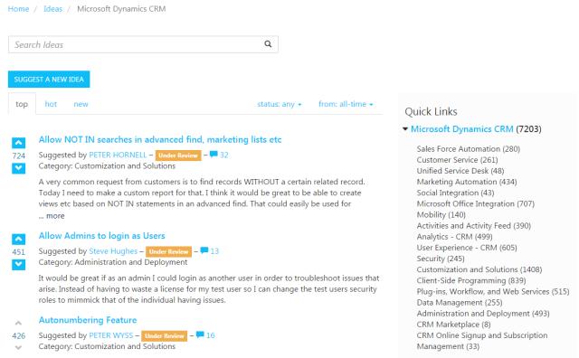 Crm Ideas Let Your Ideas Listened Microsoft Dynamics Crm