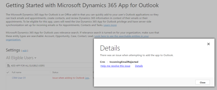 Gotchas on Dynamics 365 Outlook App Deployment | Work and